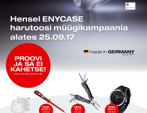 Hensel ENYCASE harutoosi müügikampaania alates 25.09.17