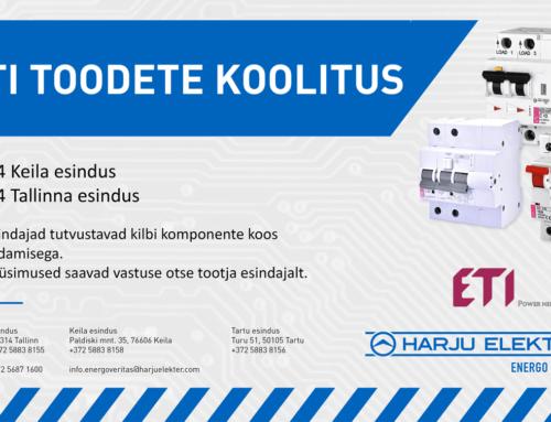 ETI toodete koolitus 24. aprillil Keilas ja 25. aprillil Tallinnas