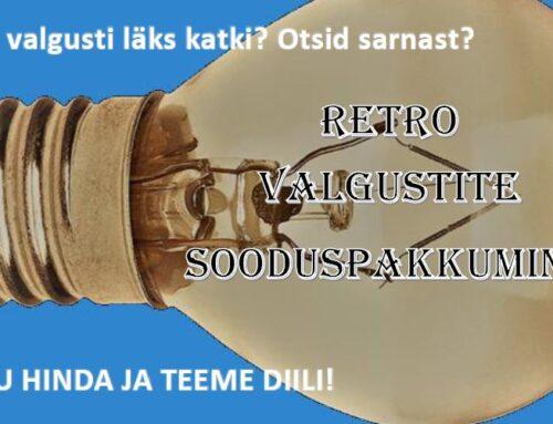 """Retro valgustite  """"PAKU HINDA JA TEEME DIILI"""" kampaania"""
